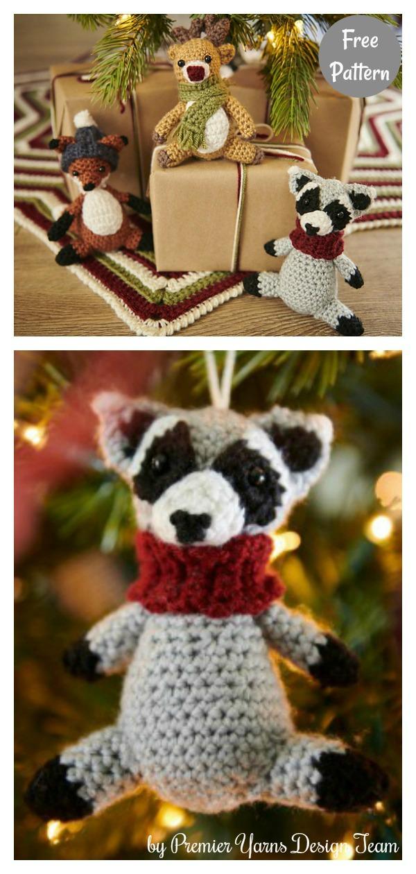 Amigurumi Tiny Raccoon Reindeer Fox Free Crochet Pattern
