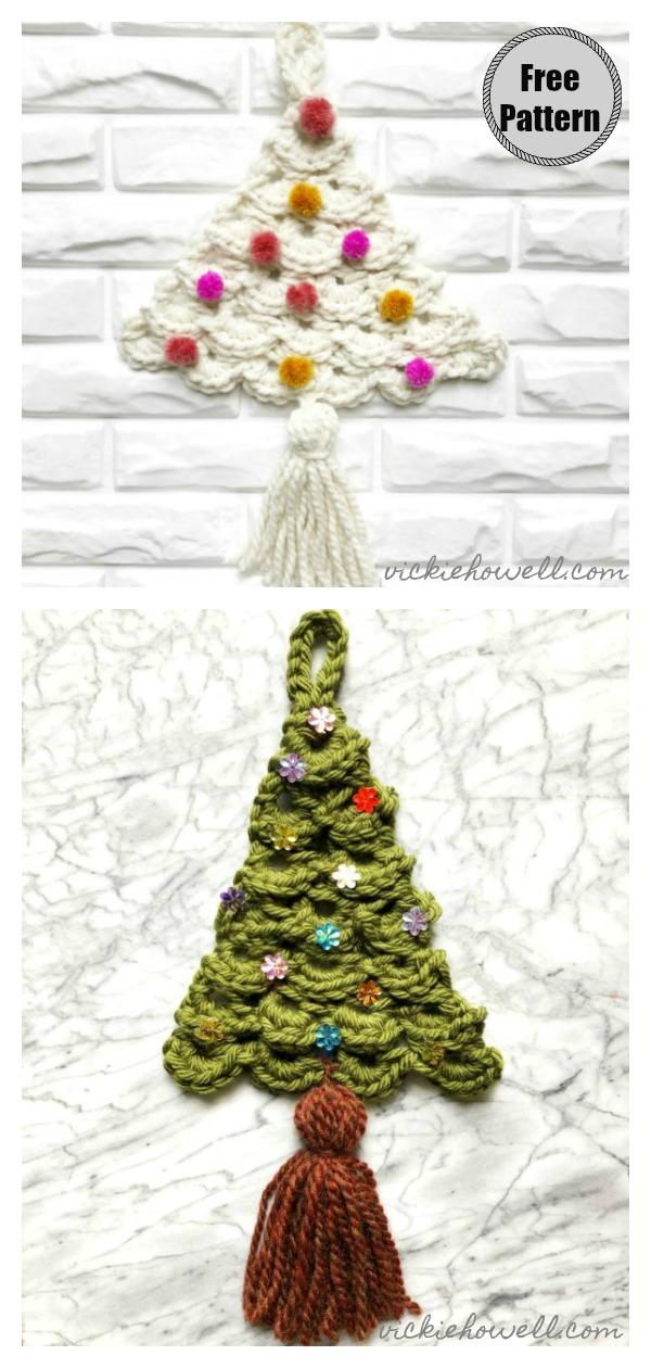 Broomstick Lace Tree Wall Decor Free Crochet Pattern