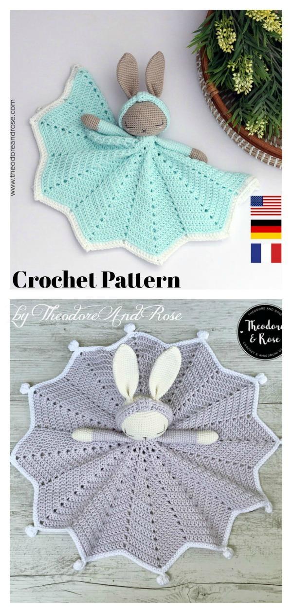 Bunny Lovey Blanket Crochet Pattern
