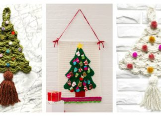 Christmas Tree Wall Hanging Free Crochet Pattern
