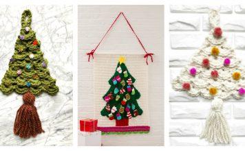 Christmas Tree Wall Hanging Free Crochet Pattern