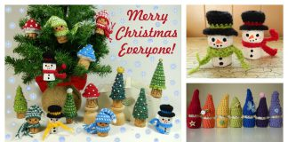 Christmas Wine Cork Ornament Free Crochet Pattern