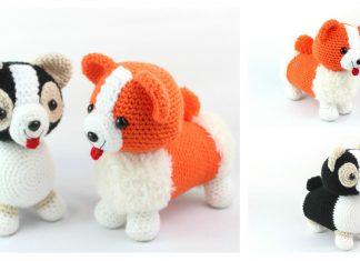 Corgi Dog Amigurumi Free Crochet Pattern