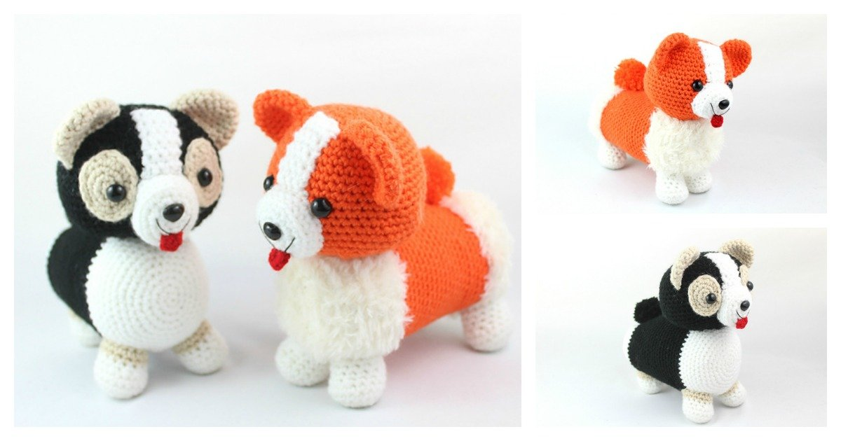 10 Free Crochet Dog Amigurumi Patterns - Amigurumi | 630x1200