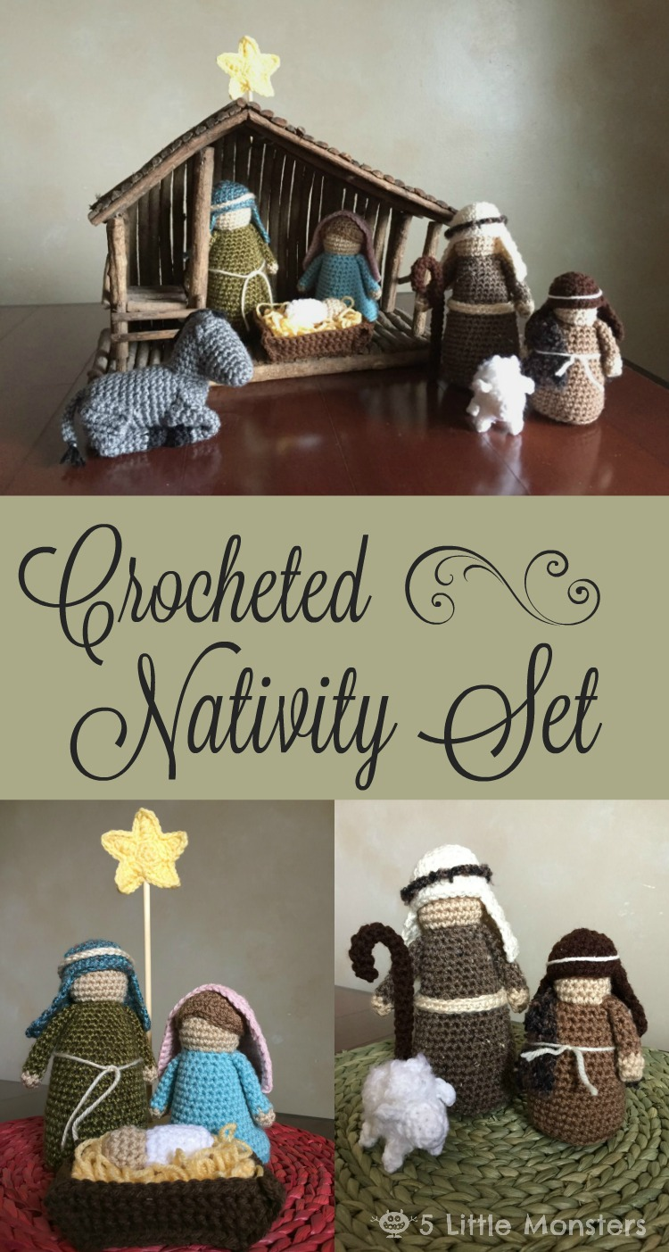 Nativity Set Free Crochet Pattern