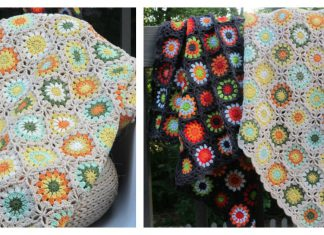 Flower Granny Square Blanket Free Crochet Pattern