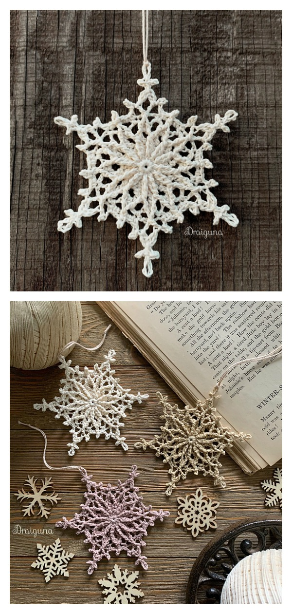 Frostvale Snowflake Christmas Ornaments Free Crochet Pattern