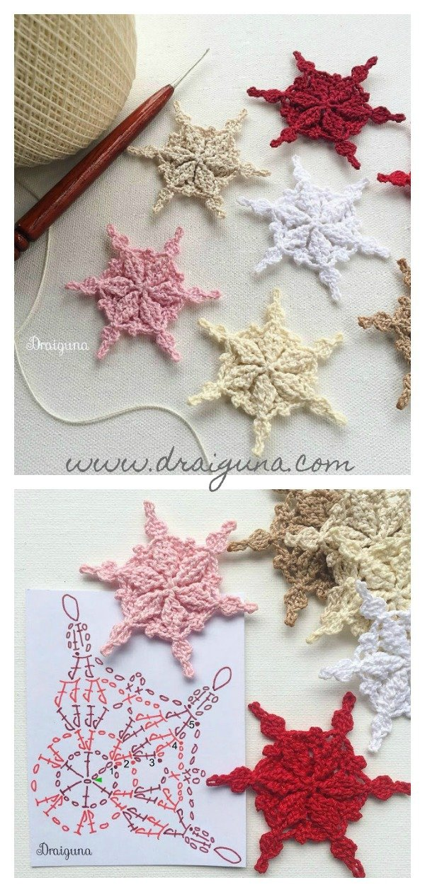 Frostwoven Snowflakes Christmas Ornaments Free Crochet Pattern