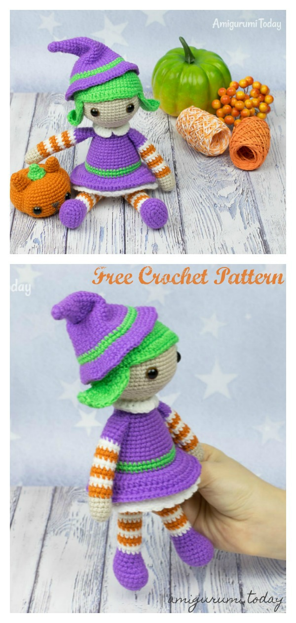 Halloween Witch Doll Amigurumi Free Crochet Pattern