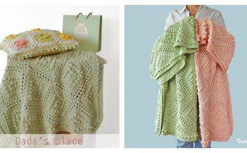 Popcorn Stitch Vintage Style Blanket Free Crochet Pattern