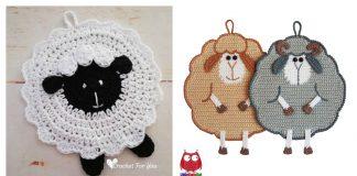 Sheep Potholder Free Crochet Pattern and Paid