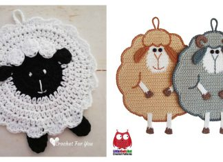 Sheep Potholder Free Crochet Pattern and Paid