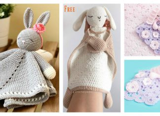 Sleepy Bunny Lovey Crochet Pattern Free and Paid