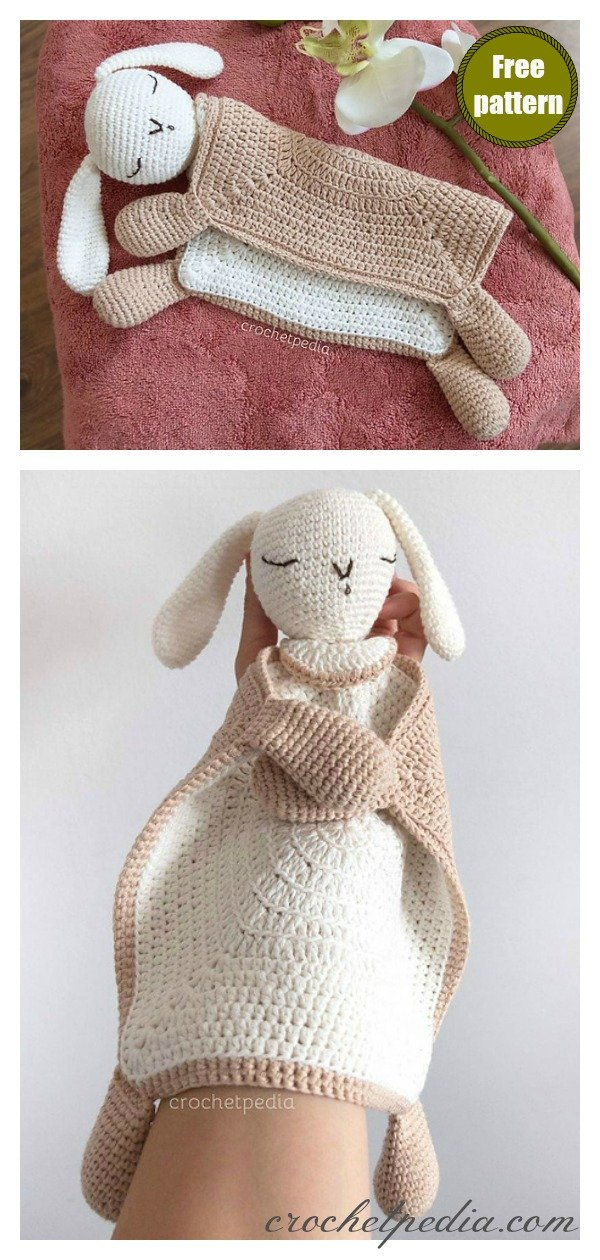 Sleepy Bunny Lovey Free Crochet Pattern