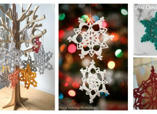 Snowflake Christmas Ornaments Free Crochet Pattern