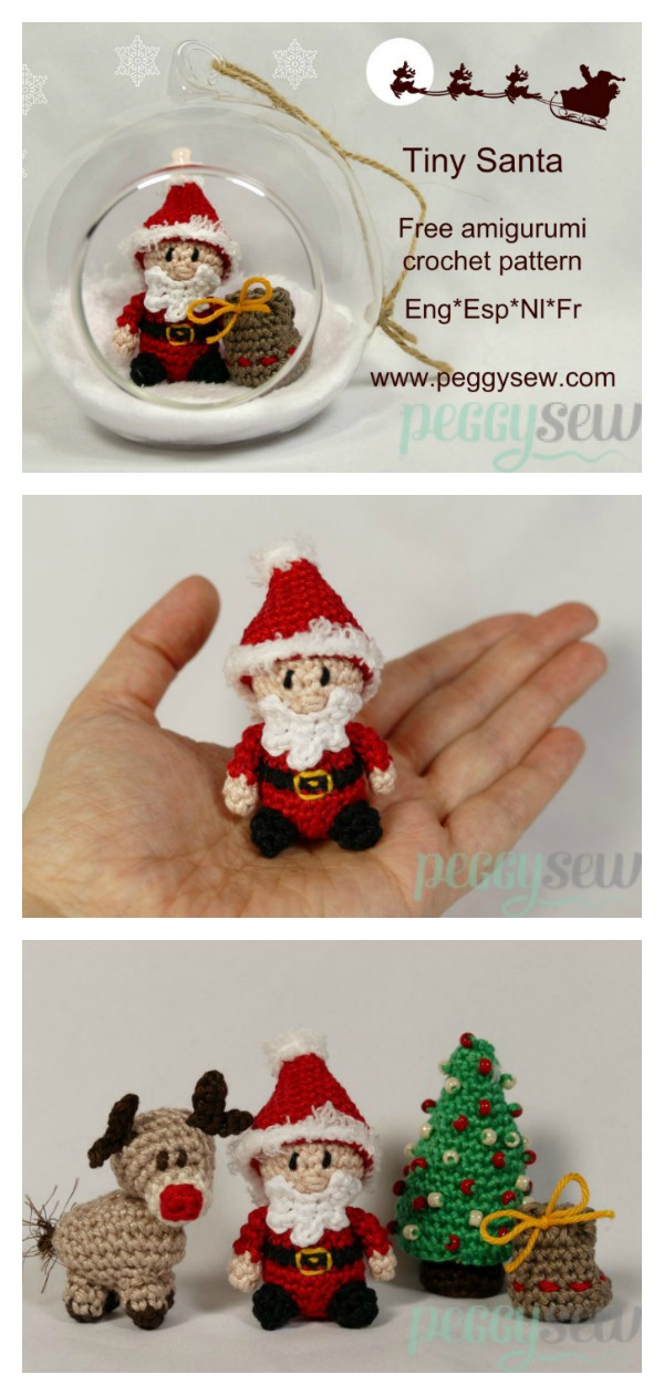 Tiny Santa Free Crochet Pattern