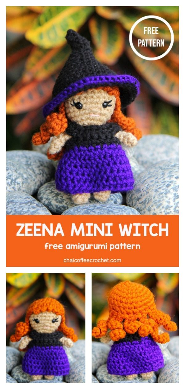 Zeena Mini Witch Amigurumi Free Crochet Pattern