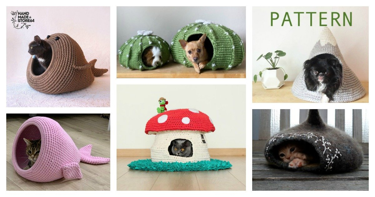 Crochet Cat Cave Lots Of Ideas That You Will Love | The WHOot | 630x1200