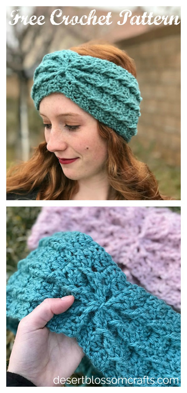 Alicia Ear Warmer Free Crochet Pattern
