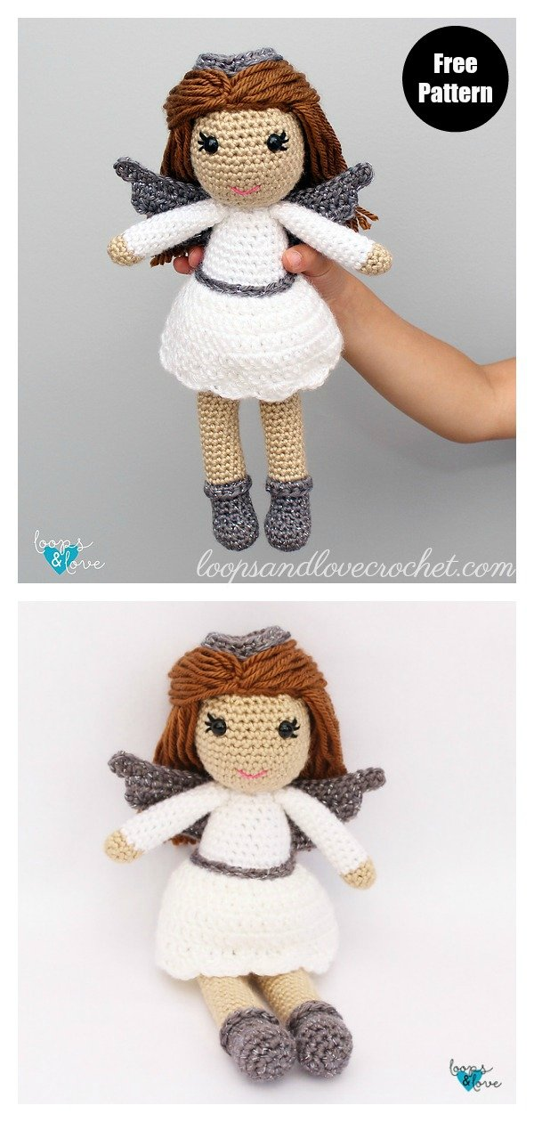 Amigurumi Christmas Angel Doll Free Crochet Pattern