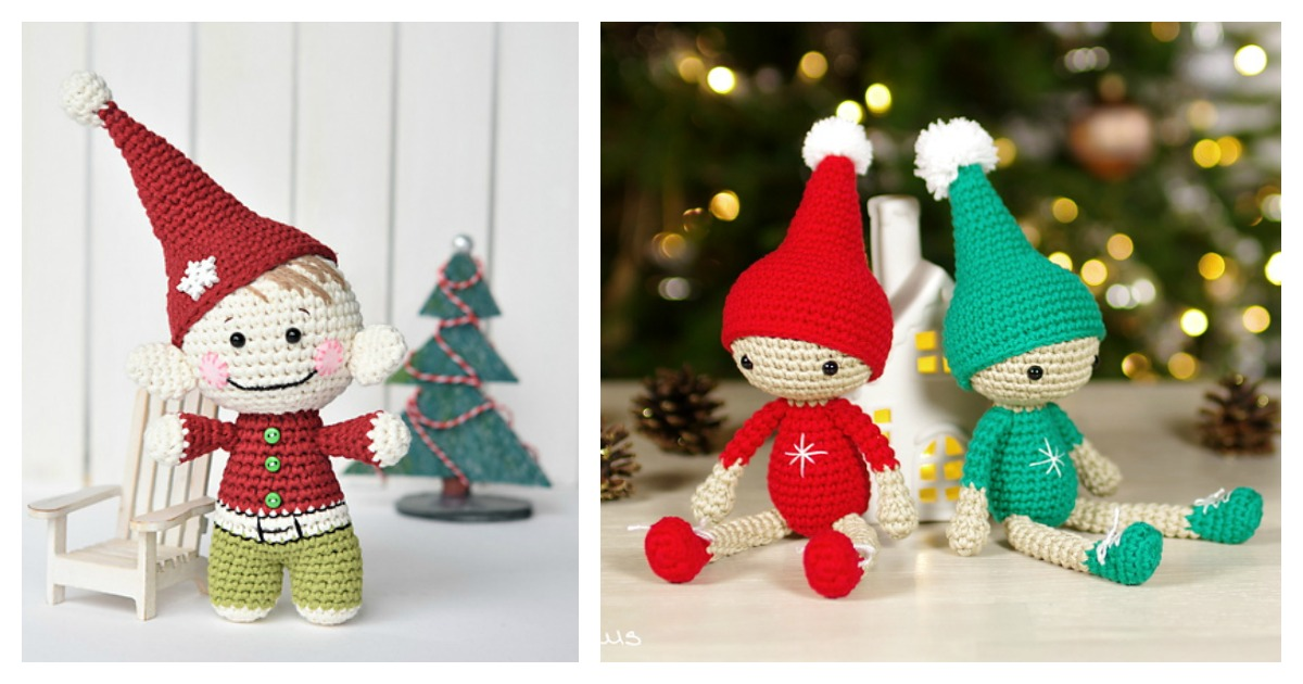 Amigurumi The Christmas Elf Free Pattern in 2020 | Christmas ... | 630x1200