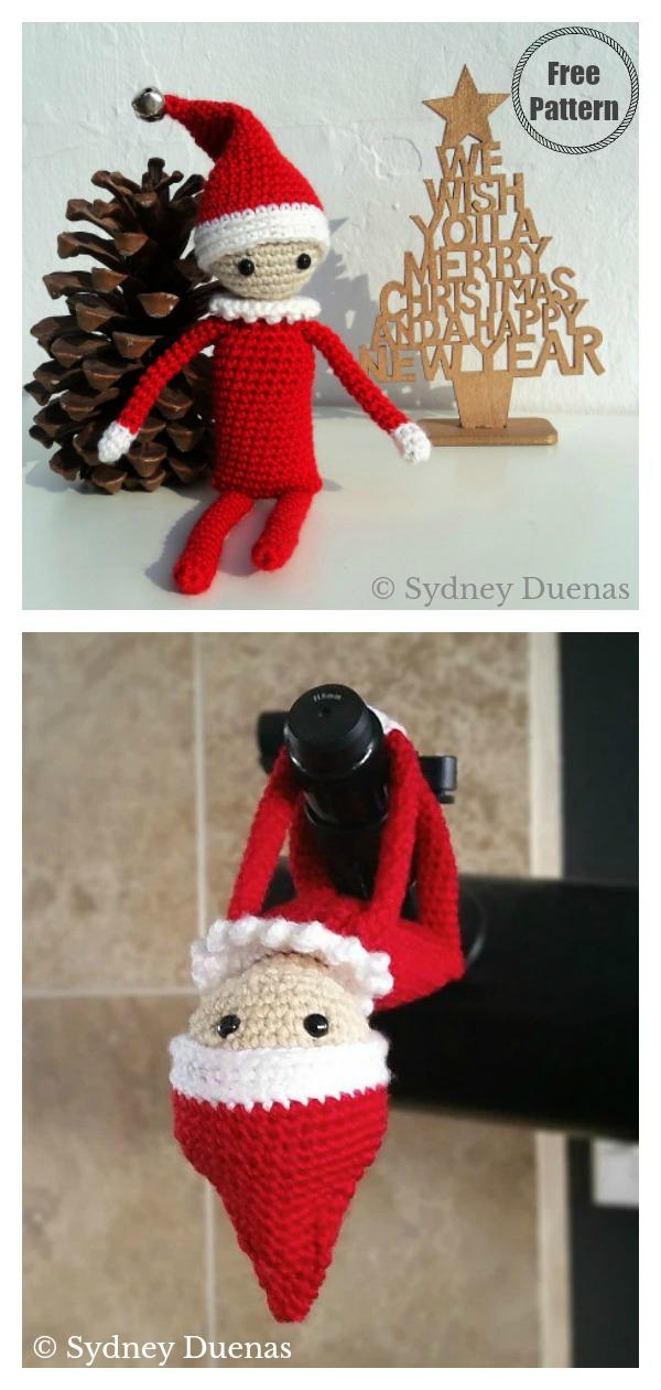 Amigurumi Christmas Elf on the Shelf Free Crochet Pattern