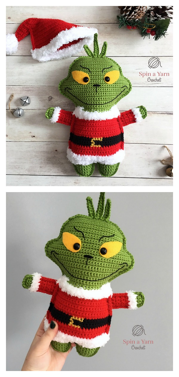Funny Grinch Amigurumi Free Crochet Patterns | 1260x600