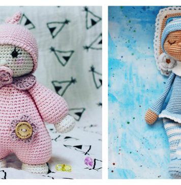 Amigurumi Sleeping Doll Free Crochet Pattern