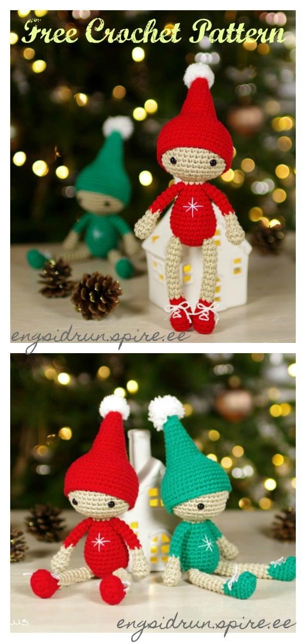 Amigurumi Small Christmas Elf Free Crochet Pattern
