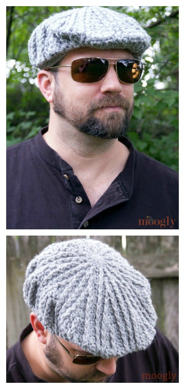 Cabled Golf Cap Free Crochet Pattern
