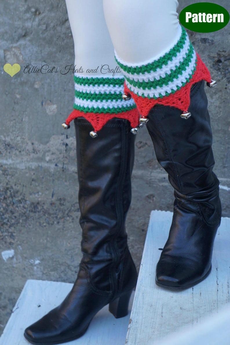 Christmas Elf Boot Cuffs Crochet Pattern