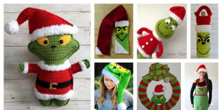 Christmas Grinch Free Crochet Pattern and Paid