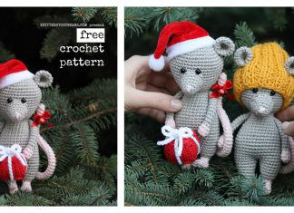Christmas Mouse Free Crochet Pattern