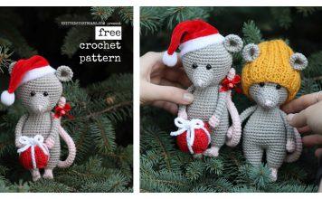 Christmas Mouse Free Crochet Pattern