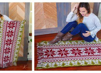 Christmas Rug Free Crochet Pattern