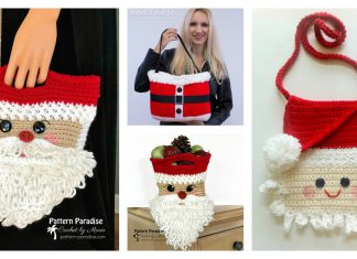 Christmas Santa Bag Free Crochet Pattern
