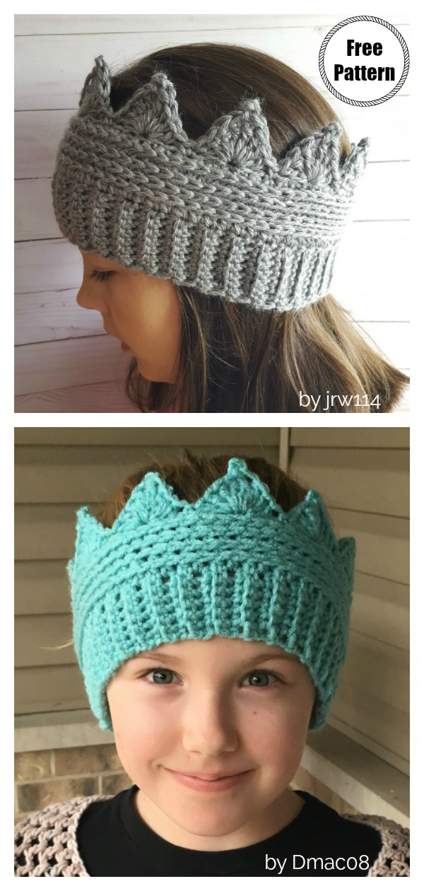 Crown Ear warmer Free Crochet Pattern