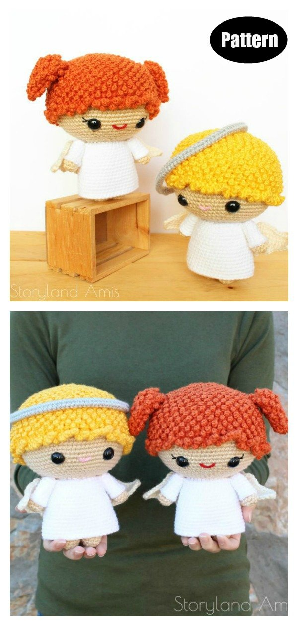 18 Free Amigurumi Christmas Angel Patterns (With images ... | 1260x600