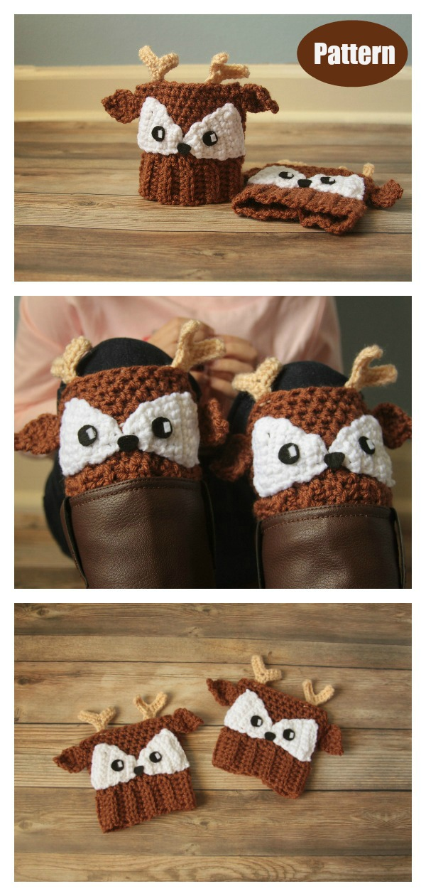 Deer Boot Cuffs Crochet Pattern