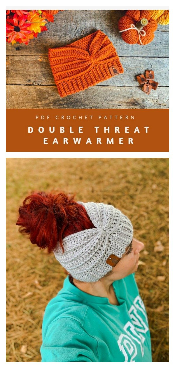 Double Threat Ear Warmer Crochet Pattern