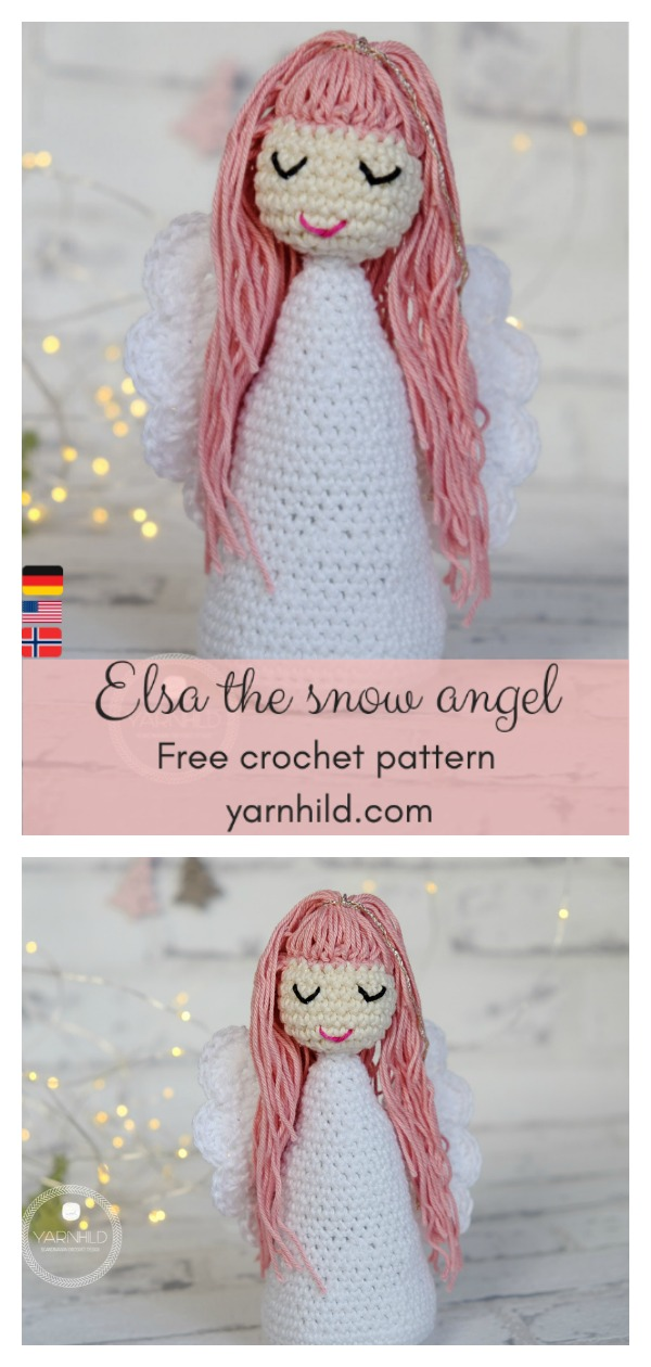 Elsa the Snow Angel Doll Free Crochet Pattern