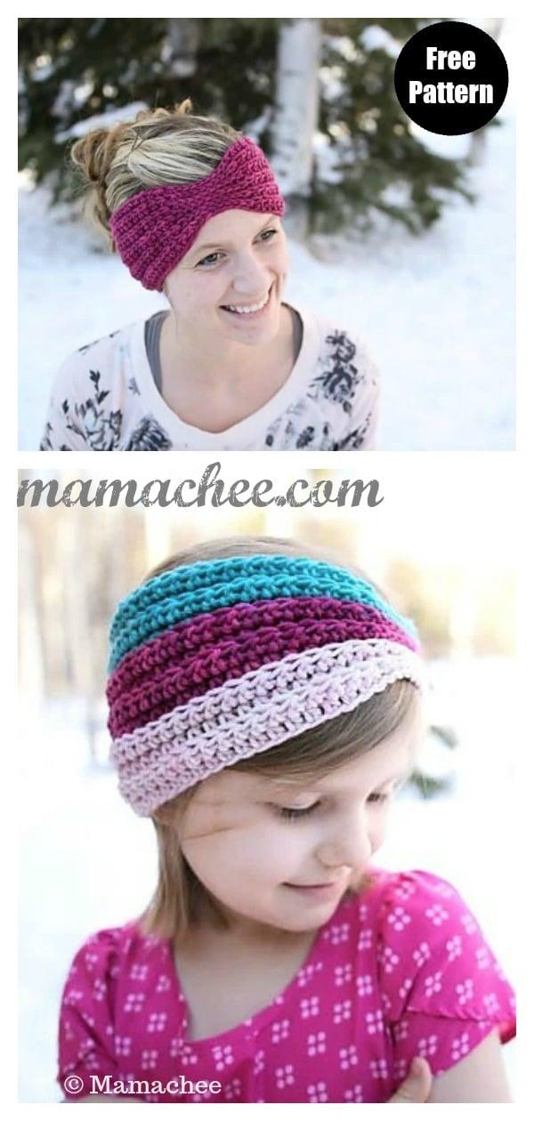 Everly Headwrap / Ear Warmer Free Crochet Pattern
