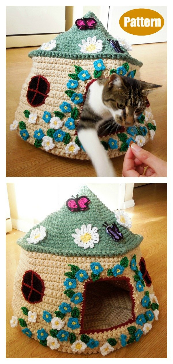 Crochet Cat House and Nest Bed Patterns For 2020 | 1260x600