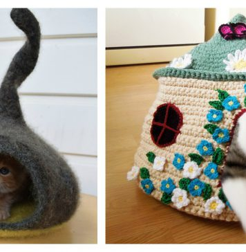 Fairy Cat Cave Free Crochet Pattern and Paid