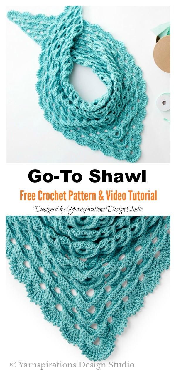 Go-To Shawl Free Crochet Pattern and Video Tutorial