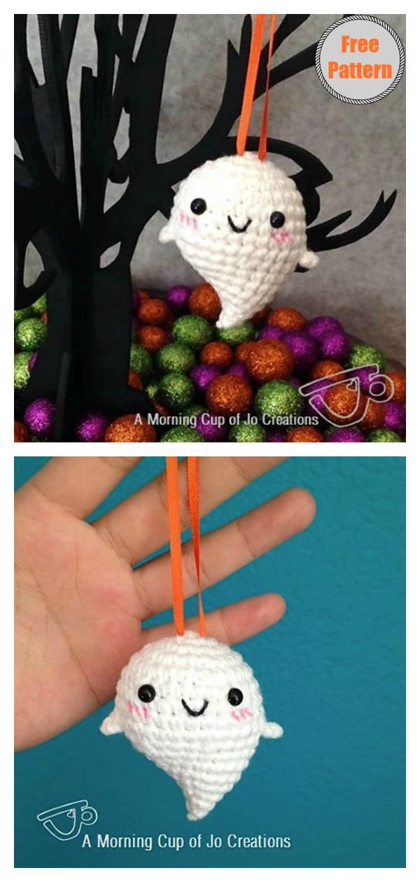 Halloween Baby Ghost Ornaments Free Crochet Pattern