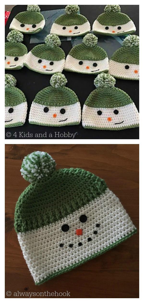 Happy Snowman Hats Free Crochet Pattern