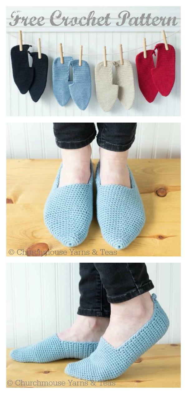 Moroccan-Style Slippers Free Crochet Pattern