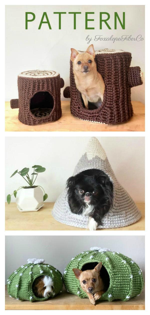 Pet Bed Pet Cave Crochet Pattern