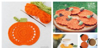 Pumpkin Coasters Free Crochet Pattern and Paid